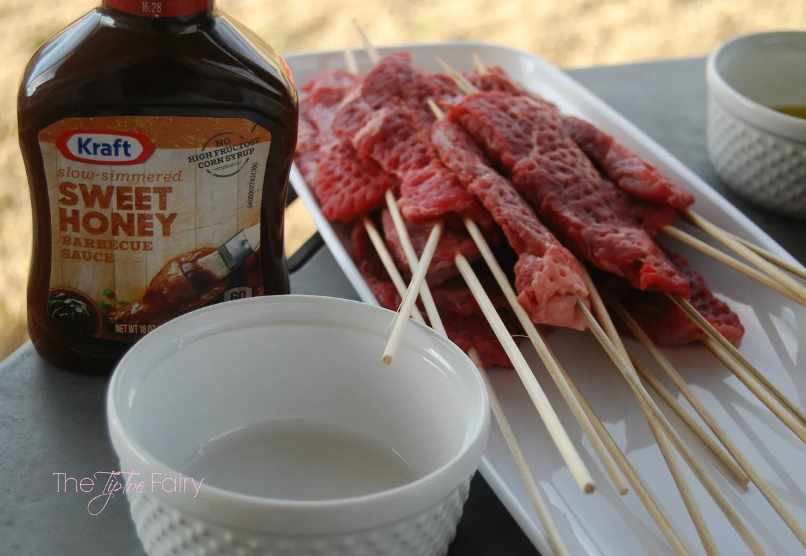 Easy Grilled Smashed Cowboy Kebabs.  A great paleo meal! | The TipToe Fairy #Evergriller #sponsored