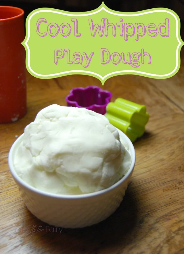 Cool Whipped Play Dough - it's edible! | The TipToe Fairy