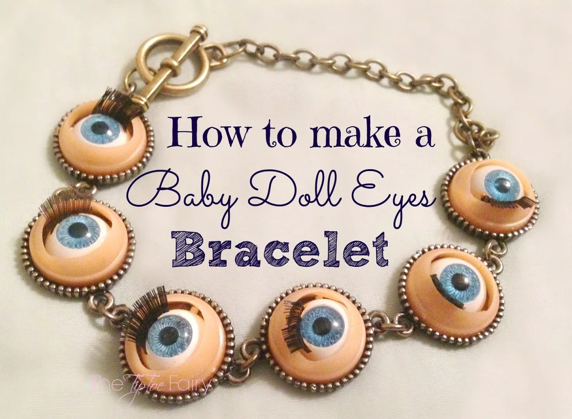 Baby Doll Eyes Bracelet | The TipToe Fairy #tutorial #jewelry #bracelettutorial