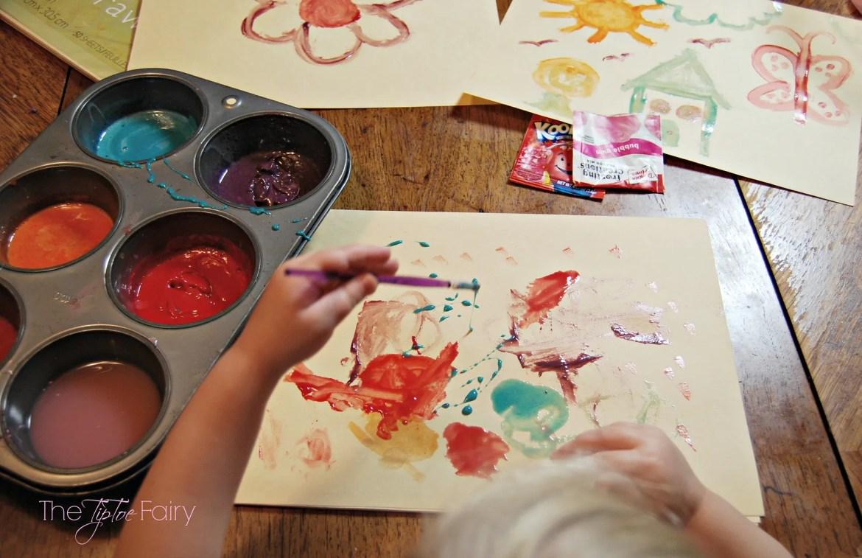 Easy Edible Paints | The TipToe Fairy #edible #crafts #paint #kidsactivities