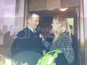 December 22, 2010, Adm. Mike Mullen speaks with Robin McGehee