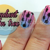 Gradient palm tree nails