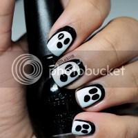 Easiest Ghost nail art tutorial