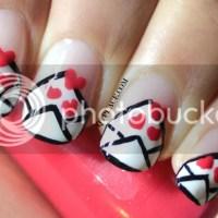 Valentine's day Love letter nail art