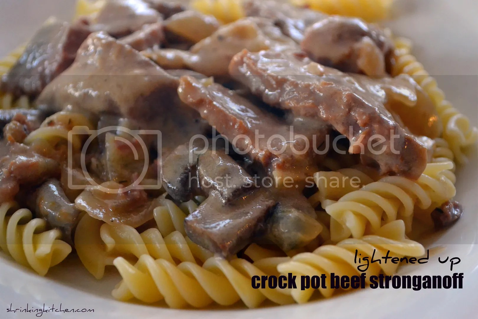 Lightened Up Crock Pot Beef Stroganoff