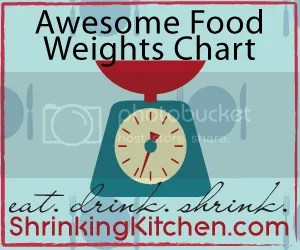 Common Food Weights Chart