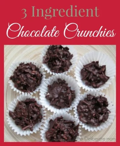 3 Ingredient Chocolate Crunchies (also known as Chocolate Cocaine). #Christmas #cookie