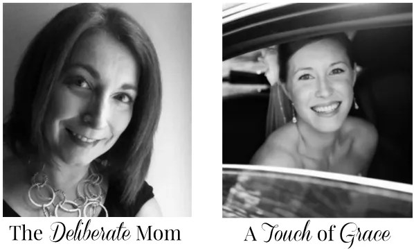 The hosts of the SHINE Blog Hop: The Deliberate Mom and A Touch of Grace