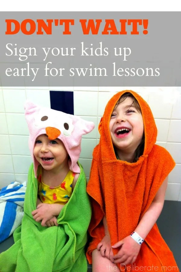 Don't Wait! Sign up your kids early for swim lessons! #safety