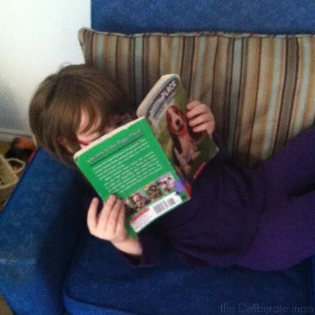 Reading is scheduled into my daughter's homeschool day #homeschool #schedule