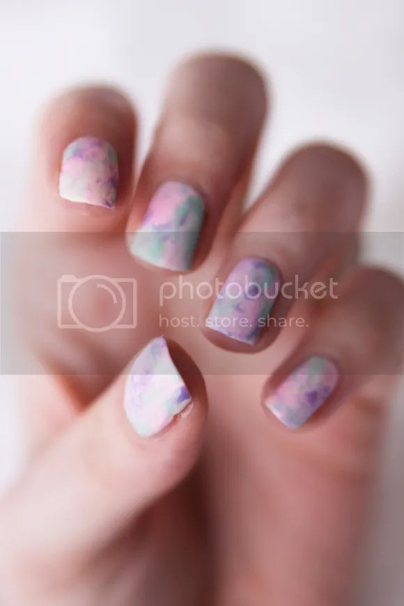 Watercolor nails