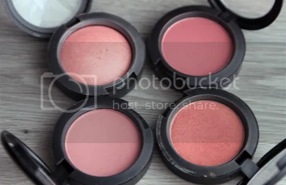 MAC Stash blushes