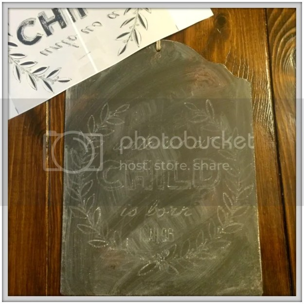How to Cheat at Chalkboard Art- Make professional looking chalkboard art for your home