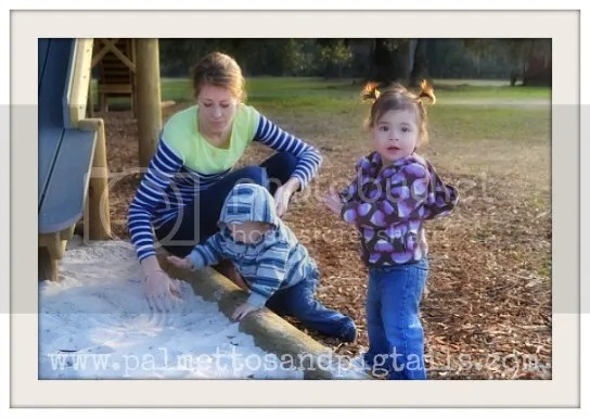 Playing in the Sandbox at the Treehouse from Palmettos and Pigtails