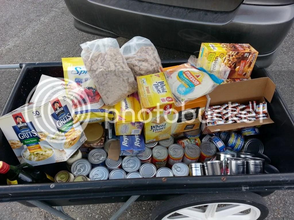 Food in cart