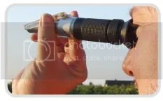 Alat pengukur Kadar Air Madu Honey Refractometer RHH 13 25