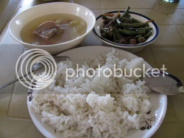 Nilagang Baka and Adobong Sitaw