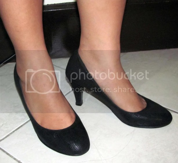 Black Pumps when worn