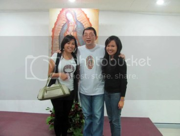 With Mariah and Mr. Alex Peñas of Our Lady of Guadalupe Family Ministry, Inc.