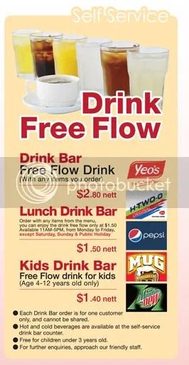 Free Flow Drinks (c) Saizeriya