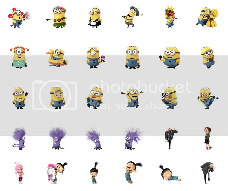 Despicable Me 2 stickers now on Facebook Chat!