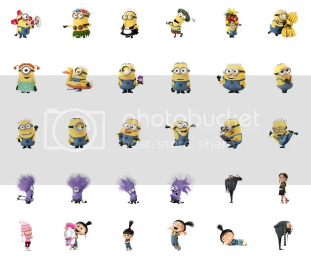 Despicable Me 2 Facebook Chat Stickers