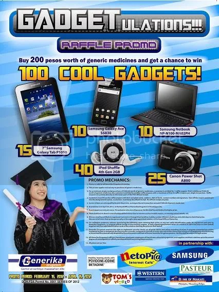GADGETulations!!! Generika Drugstore Promo Poster (February 2012)
