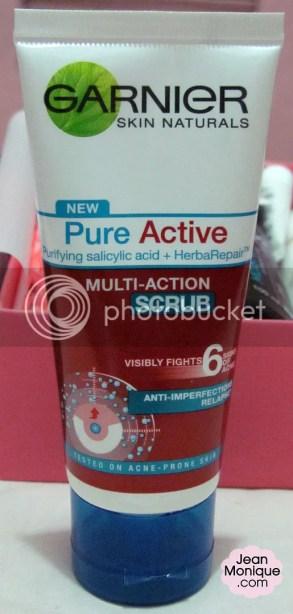 Garnier Skin Natural Pure Active Multi-action Scrub, 50mL