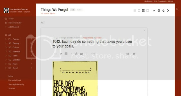 Reading on Feedly