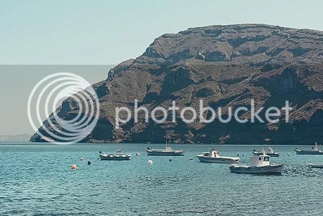 Fishing boats in Thirassia, Santorini