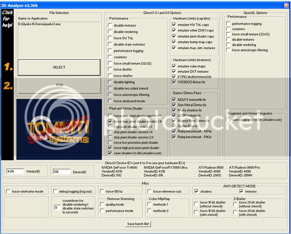 kita memakai emulator nvidia geforcefx 5900 ultra graphics card jika sudah tinggal klik save batch file sekarang run and play the game rasakan bedanya
