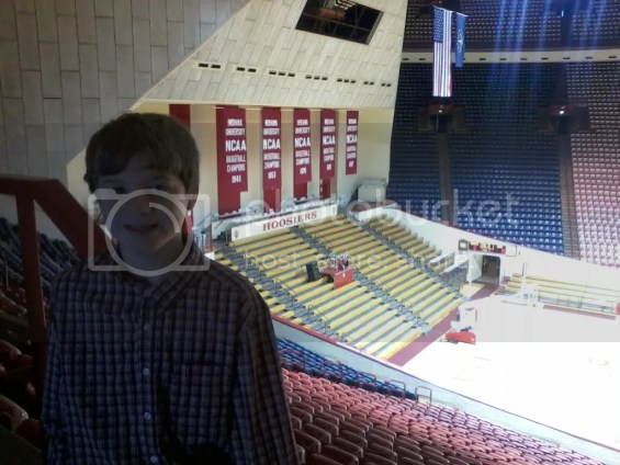 Banners at Indiana University's Assembly Hall