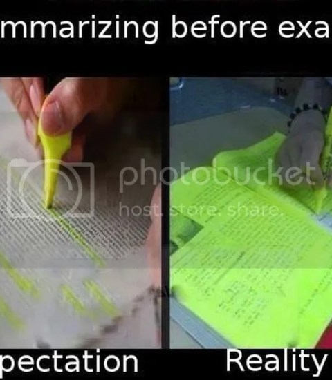 summarizing before exam