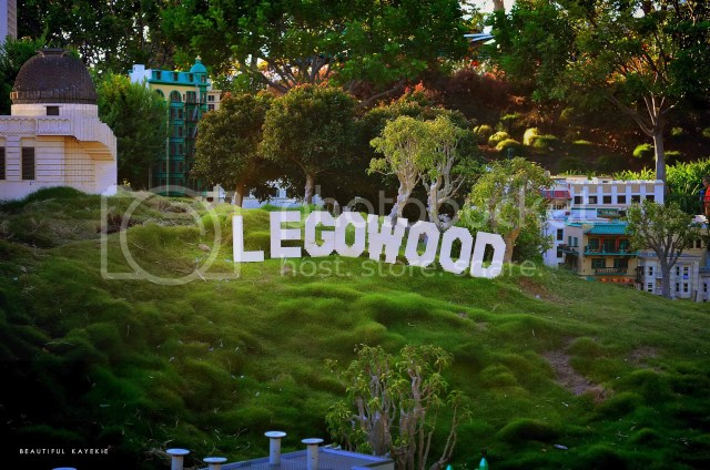 Legowood sign at Legoland California