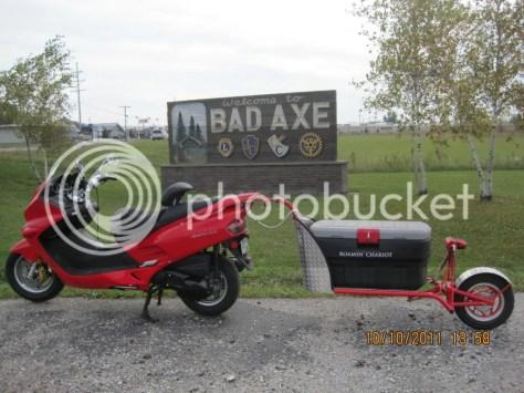 single wheel scooter trailer