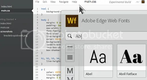 Adobe Edge Webfonts