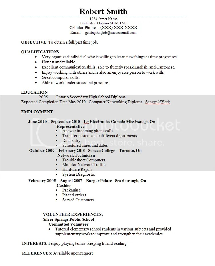 how to make resume for student