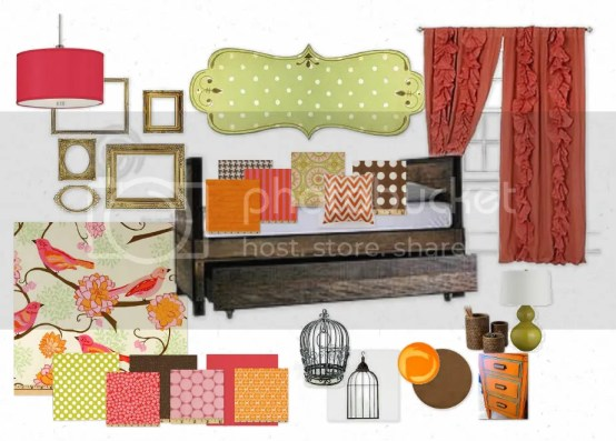 girls bedroom mood board