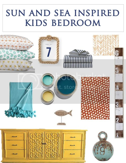 Sun and sea inspired kids bedroom