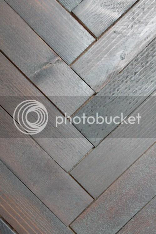 stain herringbone wood