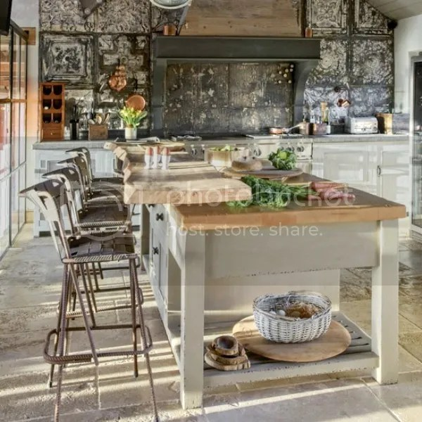 converted barn house kitchen