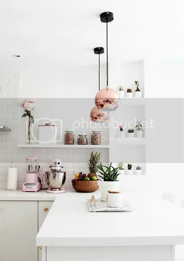 homestilo pinterest | bright kitchen with pink amp copper accents