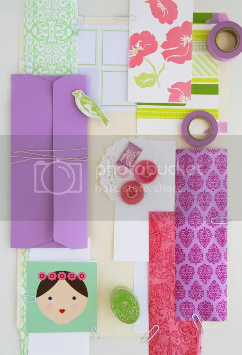 Pink, Green + Purple