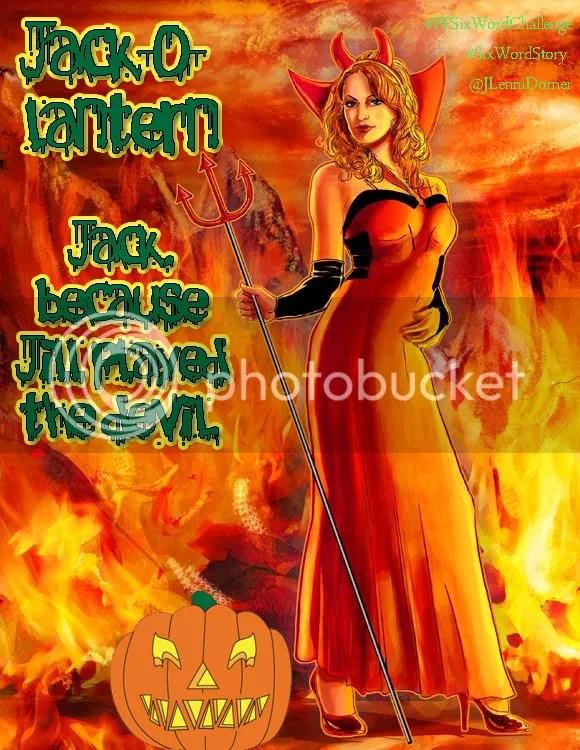Jack-o-lantern #PFSixWordChallenge #SixWordStory @JLenniDorner