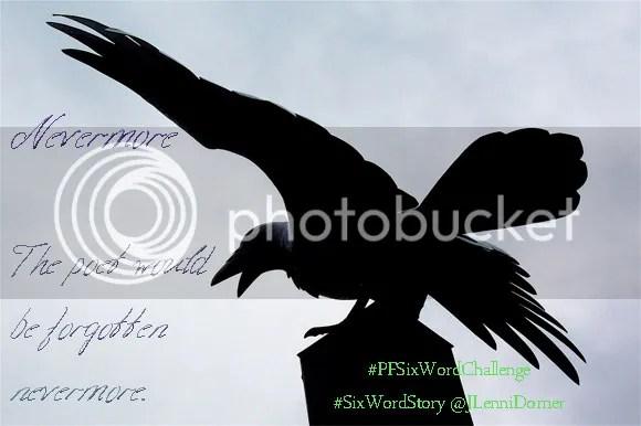 Nevermore #PFSixWordChallenge #SixWordStory @JLenniDorner