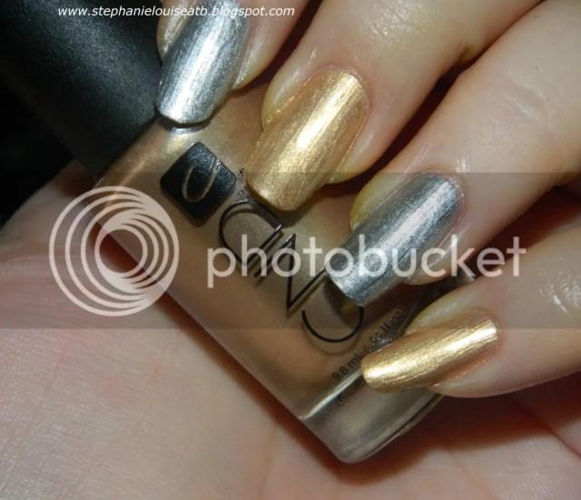 Nail Challenge 2012 Day 8 Metallic Gold Silver Nails