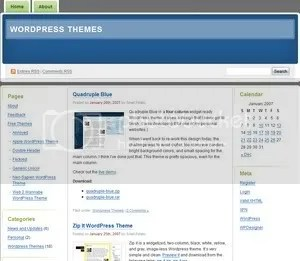 Digg 3 columns wordpress theme