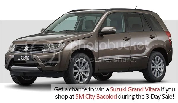 Fancy A Brand New Car? Win A Grand Vitara At The SM City Bacolod 3-Day Sale!