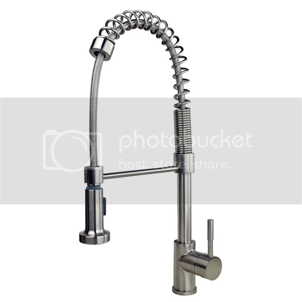 pull down kitchen faucet Single Handle Spring Pull Down Kitchen Faucet with Soap Lotion Dispenser Stainless Steel Finish