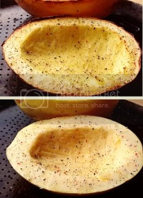 Raw and Cooked Spaghetti Squash